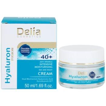 Delia Cosmetics Hyaluron Fusion 40+ intensive feuchtigkeitsspendende Creme gegen Falten 1