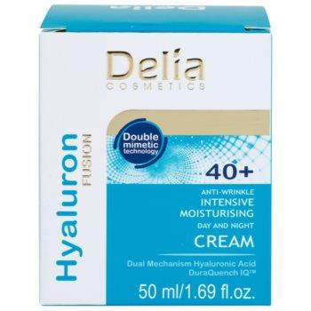 Delia Cosmetics Hyaluron Fusion 40+ intensive feuchtigkeitsspendende Creme gegen Falten 2