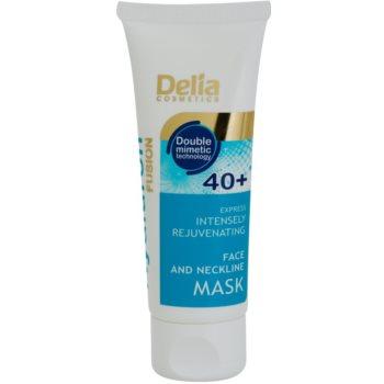 Delia Cosmetics Hyaluron Fusion 40+ intenzivně omlazující maska na krk a dekolt