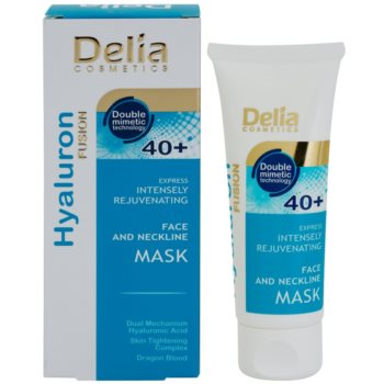 Delia Cosmetics Hyaluron Fusion 40+ intenzivně omlazující maska na krk a dekolt 1
