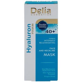 Delia Cosmetics Hyaluron Fusion 40+ intenzivně omlazující maska na krk a dekolt 2