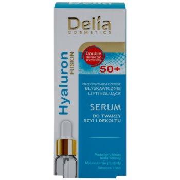 Delia Cosmetics Hyaluron Fusion 50+ sérum refirmante  para rosto, pescoço e decote 2