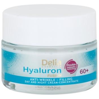 Delia Cosmetics Hyaluron Fusion 60+ crema antirid cu efect de refacere a densitatii pielii