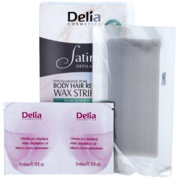 Delia Cosmetics Satine Depilation Hypoallergenic Pearl Enthaarungswachsstreifen für den Körper 1