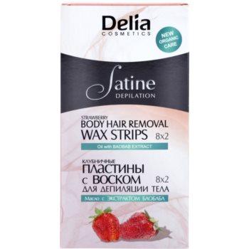 Delia Cosmetics Satine Depilation Strawberry szőrtelenítő gyantacsík testre
