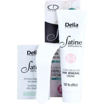 Delia Cosmetics Satine Depilation Ultra-Delicate Peelingcreme für Hände, Schultern und die Leistenregion für empfindliche Oberhaut 1