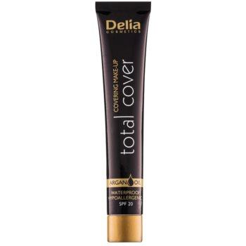 Delia Cosmetics Total Cover machiaj rezistent la apa SPF 20