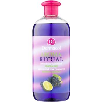 Dermacol Aroma Ritual Grape & Lime spumă de baie anti-stres poza noua