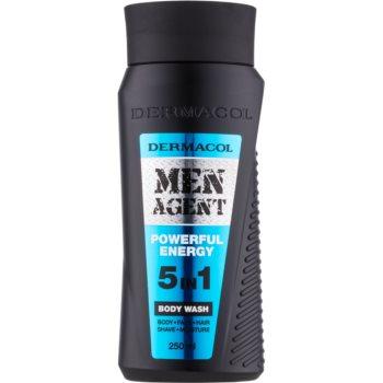 Dermacol Men Agent Powerful Energy gel de dus 5 in 1
