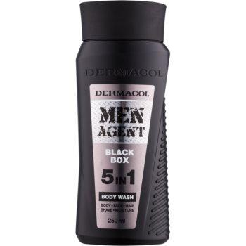 Dermacol Men Agent Black Box gel de duș 5 in 1 poza noua