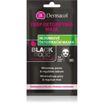 Dermacol Black Magic mascã compresã hidratantã imagine produs