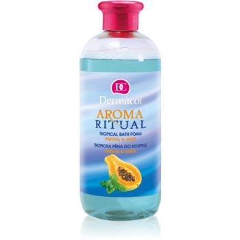 Dermacol Aroma Ritual Papaya & Mint spuma de baie poza noua