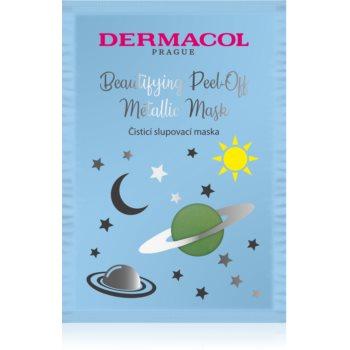 Dermacol Beautifying Peel-Off Metallic Mask mascã exfoliantã pentru curatare profunda imagine produs