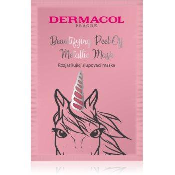 Dermacol Beautifying Peel-Off Metallic Mask mascã exfoliantã pentru o piele mai luminoasa imagine produs