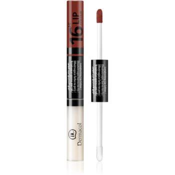 Dermacol 16H Lip Colour ruj si luciu de buze cu persistenta indelungata 2 in 1 imagine produs
