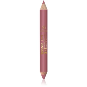 Dermacol Iconic Lips ruj și creion pentru conturul buzelor 2 in 1 poza noua