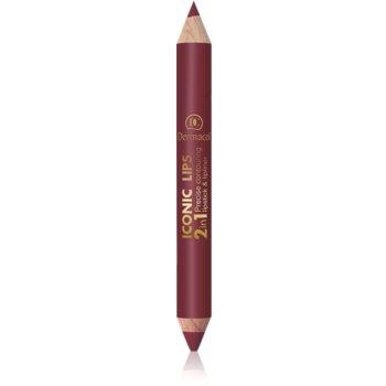 Dermacol Iconic Lips Lipliner und Lippenstift-Duo 2 in 1 Farbton 06