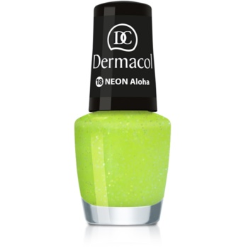 Dermacol Neon lac de unghii cu stralucire neon culoare 18 Aloha 5 ml