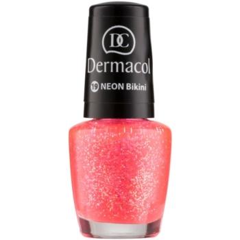 Dermacol Neon lac de unghii cu stralucire neon culoare 19 Bikini 5 ml