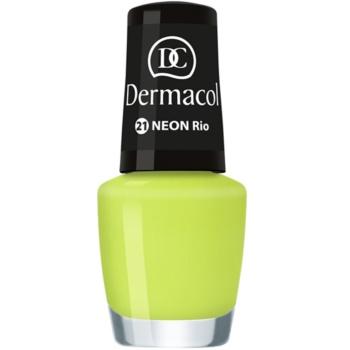 Dermacol Neon lac de unghii cu stralucire neon culoare 21 Rio 5 ml