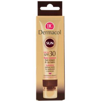 Dermacol Sun Water Resistant vodoodporna krema za sončenje za obraz z balzamom za ustnice SPF 30 2