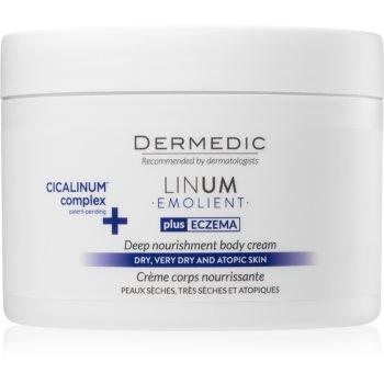 Dermedic Linum Emolient crema de corp nutritiva 200 ml pentru piele uscata spre atopica