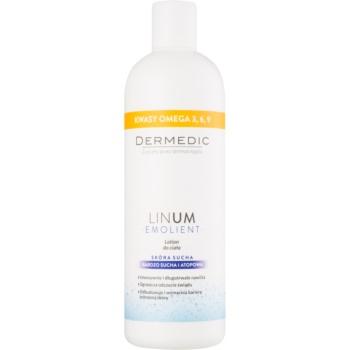 Fotografie Dermedic Linum Emolient tělové mléko pro suchou až atopickou pokožku 400 g