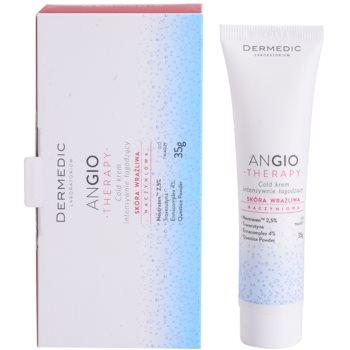 Dermedic Angio Therapy інтенсивний заспокоюючий охолоджуючий крем для чутливої шкіри та шкіри схильної до почервонінь 2