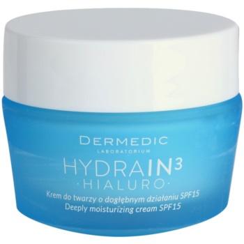 Dermedic Hydrain3 Hialuro crema puternic hidratanta SPF 15