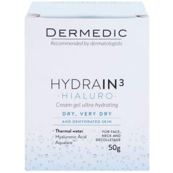 Dermedic Hydrain3 Hialuro głęboko nawilżający krem-żel 2