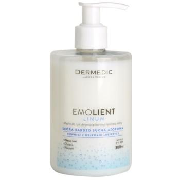 Dermedic Linum Emolient mýdlo na ruce pro ochranu lipidové bariéry 300 ml