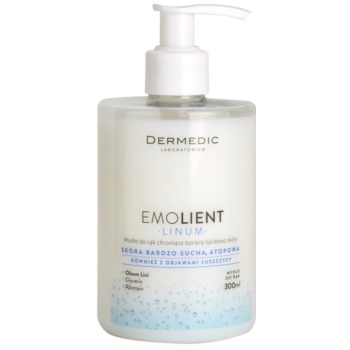 Dermedic Linum Emolient mydlo na ruky pre ochranu lipidovej bariéry