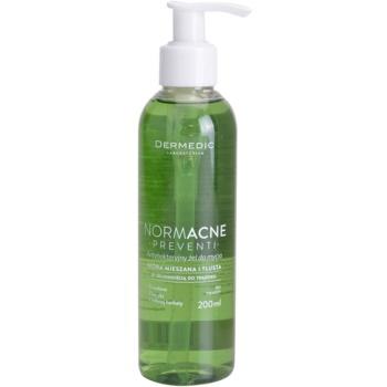 Dermedic Normacne Preventi antibakterijski čistilni gel za mešano in mastno kožo