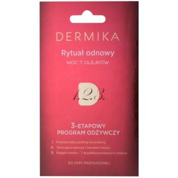 Dermika 1. 2. 3. tratament nutritiv trifazic pentru piele foarte uscata