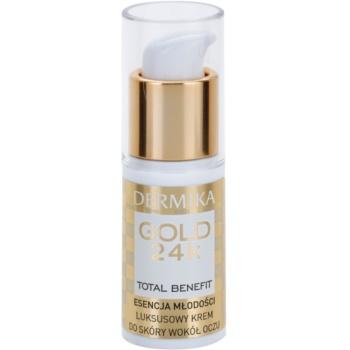Fotografie Dermika Gold 24k Total Benefit luxusní omlazující krém na oční okolí 15 ml
