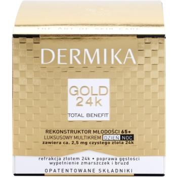 Dermika Gold 24k Total Benefit Crema intinerirea pielii 65 + 3