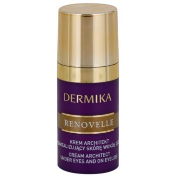 Dermika Renovelle 45+ відновлюючий крем для шкіри навколо очей проти зморшок та темних кіл