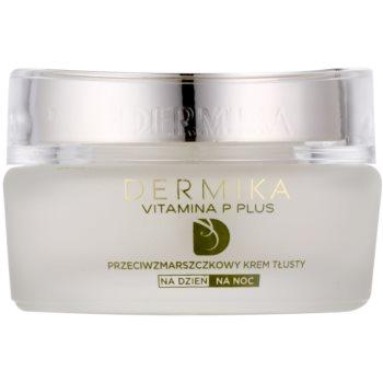 Dermika Vitamina P Plus crema hranitoare anti-rid pentru piele sensibila cu tendinte de inrosire