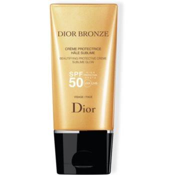 Dior Dior Bronze Beautifying Protective Creme Sublime Glow crema protectoare pentru fata SPF 50 imagine