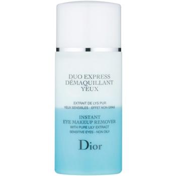 Dior Cleansers & Toners doua componente demachiant pentru ochi pentru piele sensibila
