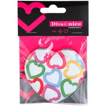 Diva & Nice Cosmetics Accessories espelho cosmético em forma de coração 1