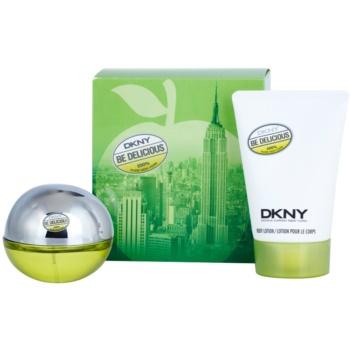 DKNY Be Delicious dárková sada XIII. parfémovaná voda 30 ml + tělové mléko 100 ml
