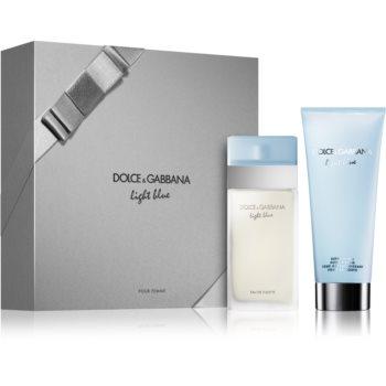 Dolce & Gabbana Light Blue set cadou II.  Apa de Toaleta 50 ml + Crema de corp 100 ml