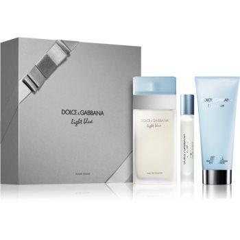Fotografie Dolce & Gabbana Light Blue dárková sada IX. toaletní voda 100 ml + tělový krém 100 ml + toaletní voda 7,4 ml