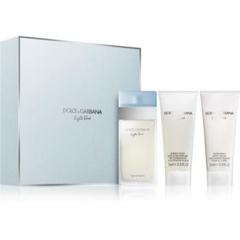 Fotografie Dolce & Gabbana Light Blue dárková sada VI. toaletní voda 100 ml + sprchový gel 100 ml + tělový krém 100 ml