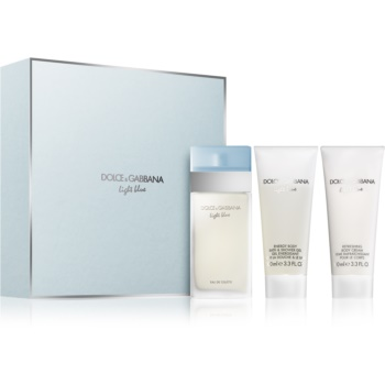Dolce & Gabbana Light Blue set cadou VI.  Apa de Toaleta 100 ml + Gel de dus 100 ml + Crema de corp 100 ml