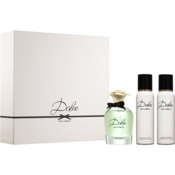 Dolce & Gabbana Dolce set cadou IV.  Eau de Parfum 75 ml + Lotiune de corp 100 ml + Gel de dus 100 ml