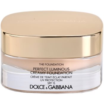 Dolce & Gabbana The Foundation Perfect Luminous Creamy Foundation sametový make-up pro rozjasnění pleti