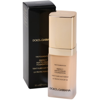 Dolce & Gabbana The Foundation Perfect Matte Liquid Foundation base para aspeto mate 2