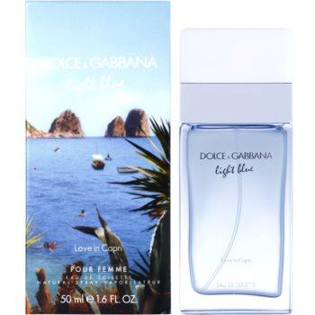 Dolce & Gabbana Light Blue Love in Capri Eau de Toilette pentru femei 50 ml